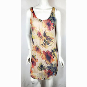 Giusy Made In Italy Silk Floral Dress XS